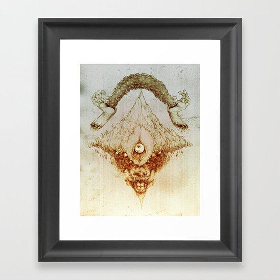Wolf Mountain Framed Art Print
