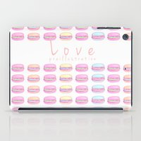 macaroon iPad Cases featuring Love Macaroon by Praillustration