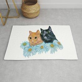 Cats. Best Friends. Rug