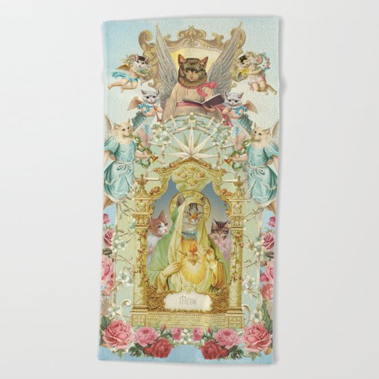 Holy cats! Beach Towel