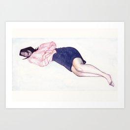 Sleepy China #1 Art Print