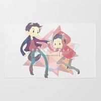 stiles Area & Throw Rugs featuring Cutie Pies by renqa