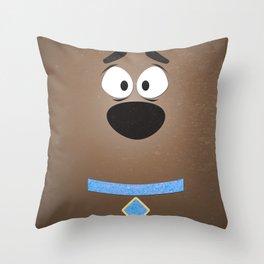Minimal Scooby Throw Pillow