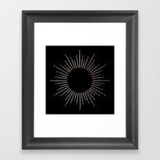 Sunburst Moon Dust Bronze on Black Framed Art Print