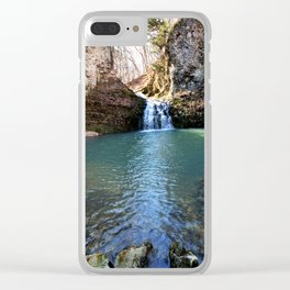 Alone in Secret Hollow with the Caves, Cascades, and Critters, No. 21 of 21 Clear iPhone Case