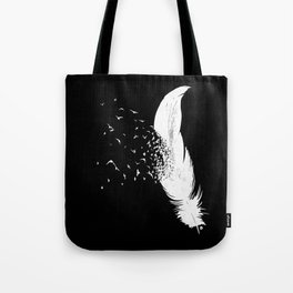 Birds of a Feather (Black) Tote Bag