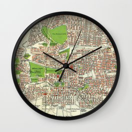 Vintage Johannesburg South Africa Map (1913) Wall Clock