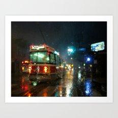 Streetcar Interruptus Art Print