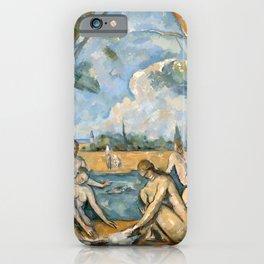 Paul Cézanne - Les Grandes Baigneuses (The Large Bathers) iPhone Case
