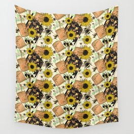 Sweet Honey Bees Wall Tapestry