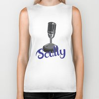 scully Biker Tanks featuring Vin Scully Mic by Eric J. Lugo
