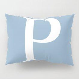 Letter P sign on placid blue background Pillow Sham
