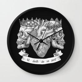 Til Death Do Us Part Wall Clock