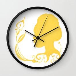 Gold Silhouette & Calla Wall Clock