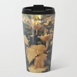 Mushrooms in Dappled Sunlight Travel Mug