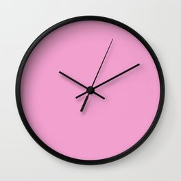 RASPBERRY SPICY LATTE pastel solid color Wall Clock