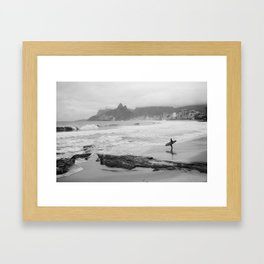The Lone Surfer(2) Framed Art Print