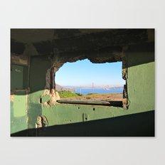 City Through A Window Canvas Print