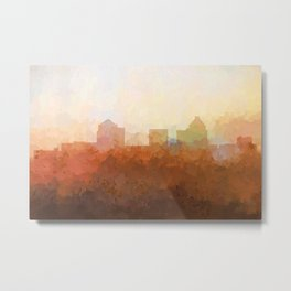 Greensboro, NC Skyline  - In the Clouds Metal Print