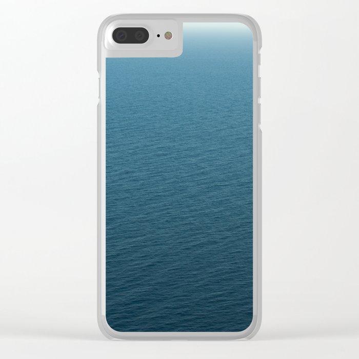 Simply calm sea Clear iPhone Case