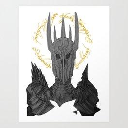 Sauron Black Speech Art Print
