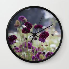 Pincushions at Dusk Wall Clock