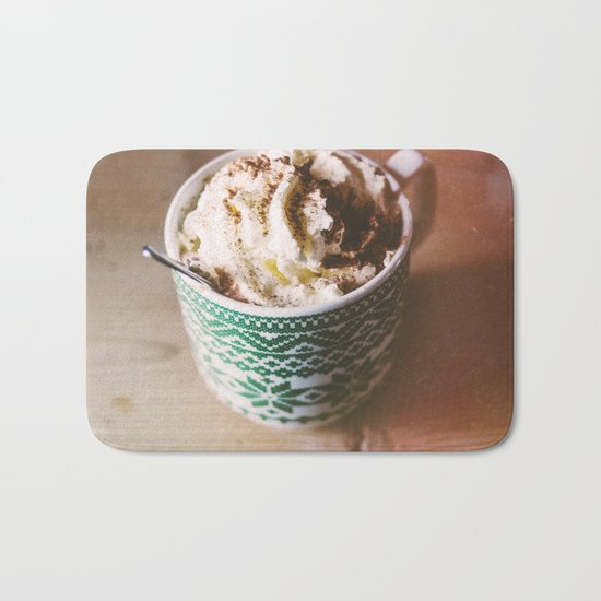 Whipped Cream Hot Chocolate Bath Mat