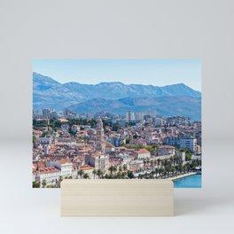 Seafront view on Split city - Croatia Mini Art Print