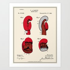 Boxing Glove Patent - Colour Art Print