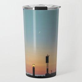 Vintage Sunset Travel Mug