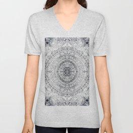 Black&white Mandala - & Grey Blue Unisex V-Neck