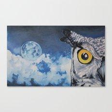 Edgar's Last Night Free Canvas Print