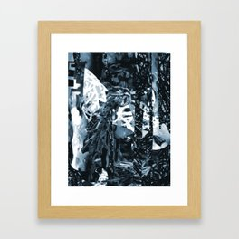 Neutralized Surreal-Real Textures Framed Art Print