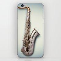 saxophone iPhone & iPod Skins featuring Tenor Saxophone by Ruud Roelofsen
