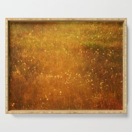 In Fields of Gold, Landscape Wildflowers Serving Tray