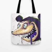 mike wrobel Tote Bags featuring Mike  by Crooked Octopus