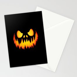 Evil Halloween pumpkin Stationery Cards