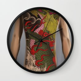 kirin bodysuit tattoo design Wall Clock