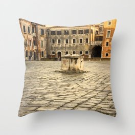 Venetian Ghetto Throw Pillow