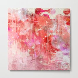 Modern contemporary pastel Blush and Peaches Abstract Metal Print