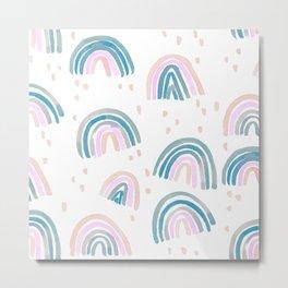Rainbow Chroma Pastel Metal Print