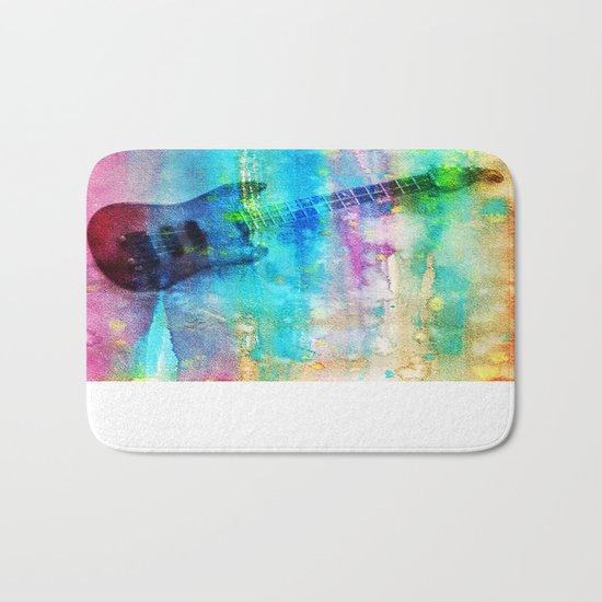 Rainbow Guitar Bath Mat