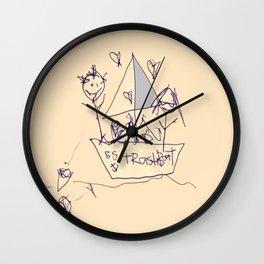 S.S. Trash Boat Wall Clock