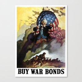 Uncle Sam - Buy War Bonds  Canvas Print