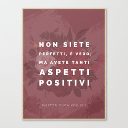 You Are Not Perfect (Italian) Canvas Print