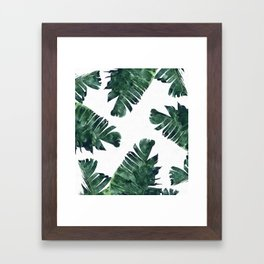 Banana Leaf Watercolor #society6 #buy #decor Framed Art Print