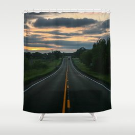 Just standin' in the middle of a country road and watchin' the sun set... Shower Curtain