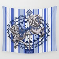 pony Wall Tapestries featuring Pony Blue by The Victorian Fantasy