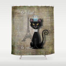 Le Chat, La Reine - The Cat, The Queen Shower Curtain