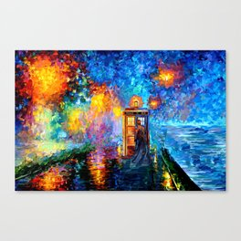 The 10th Doctor Starry The Night Canvas Print